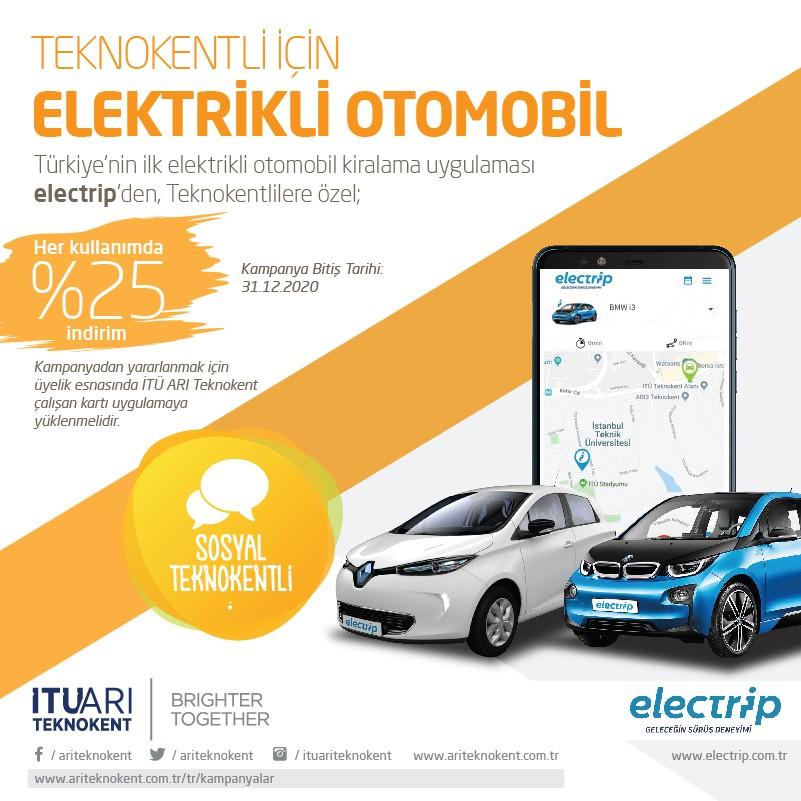 Teknokentliler için Elektrikli Otomobil