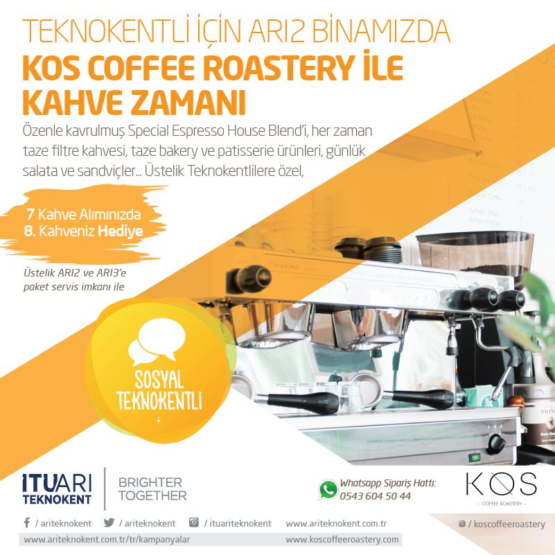 Teknokentliler için ARI2 Binamızda KOS Coffee Roastery ile Kahve Zamanı