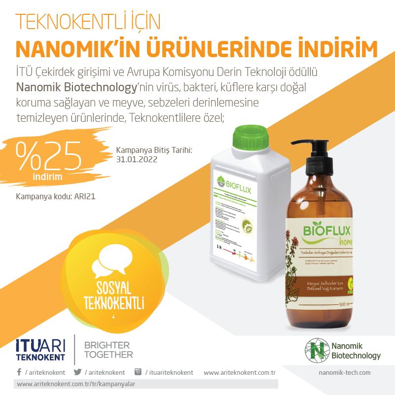 Teknokentliler için Nanomik'in Ürünlerinde İndirim
