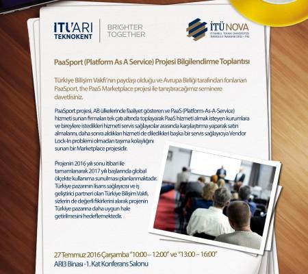 PaaSport (Platform As A Service) Projesi Bilgilendirme Toplantısı