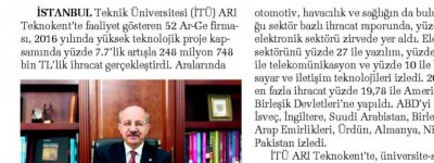 ARI TEKNOKENT'TEN 69 ÜLKEYE İHRACAT