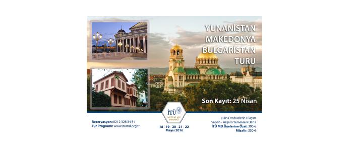 İTÜ Mezunlar Derneği Balkanlar Turu Düzenliyor