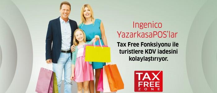 Ingenico YazarkasaPOS'lar  Tax Free Fonksiyonu ile turistlere KDV iadesini kolaylaştırıyor.