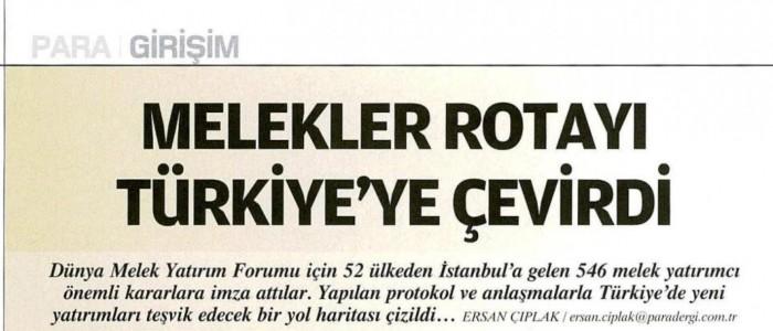 MELEKLER ROTAYI TÜRKİYE'YE ÇEVİRDİ